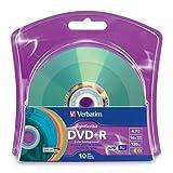 Verbatim 16x DVD+R LightScribe Assorted Color Blank Media, 4.7GB/120min - 10 Pack (96941)