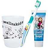 wellsamed wellsakids Zahnpflegeset 3-teilig für Kinder Set weiß