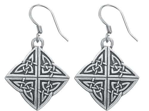 DANFORTH - Celtic Knot Earrings - 1 Inch - Surgical Steel Wires - Handcrafted - Made in USA