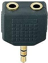 Gimax 2017 Hot New Black GOLD Plated Jack Plug Headphone Splitter Adaptor Adapter 3.5mm