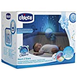 Luz de cuna azul Next2Stars de Chicco, con proyector, ideal para cunas de viaje