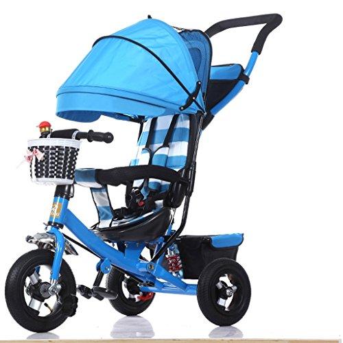 XXW kinderwagen met parasol, inklapbaar, voor kinderen, driewieler, 1-3 - 5 jaar