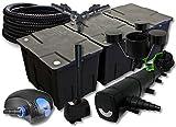 SunSun Filter Set 90000l Teich mit 72W Teichklärer 100W ECO Pumpe 25m Schlauch Skimmer Springbrunnen