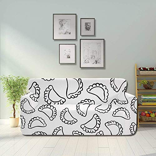 Generies Dumplings Delicate Compact Living Room Couch Covers Dust Proof Sofa Cover Fitted Furniture Protector 2&3 Seat Sofas