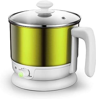 Xyanzi dianzhuguo Mini Cocina Eléctrica Multifuncional De 1.2L para Estudiantes Que Cocinan Olla Eléctrica Olla Eléctrica 1-2 Personas Oro/Verde 600W (Color : Green A)