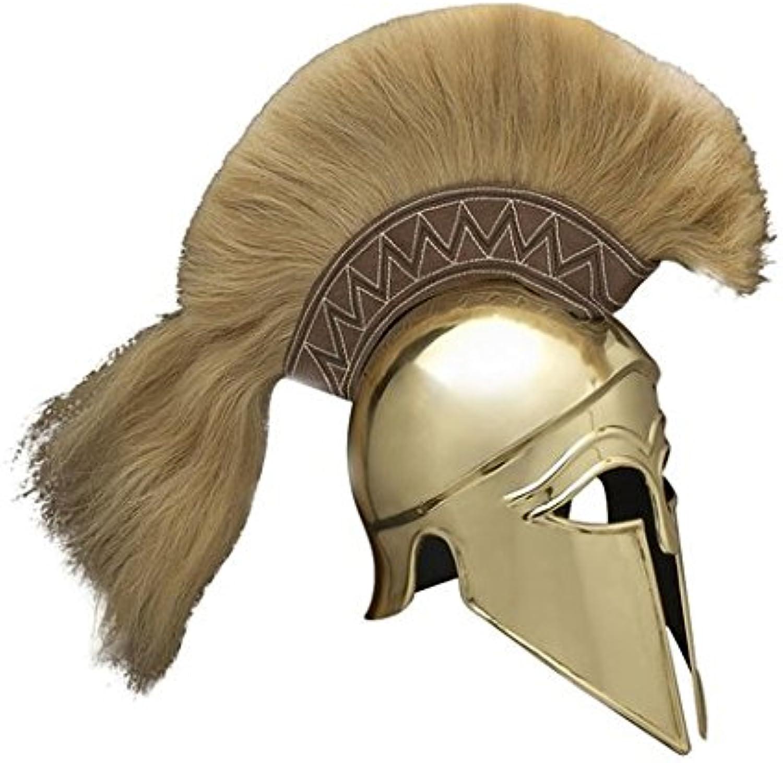 NauticalMart Armor Italic Corinthian Greek Helmet Brass With Plume