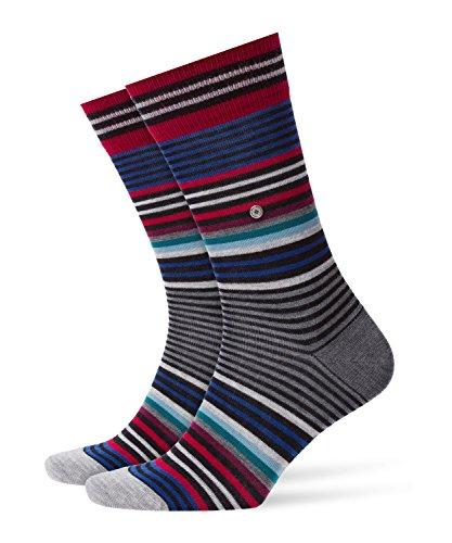 BURLINGTON Herren Socken Stripe - Schurwollmischung, 1 Paar, Schwarz (Black 3001), 40-46