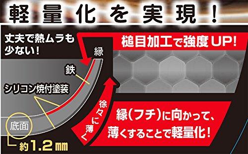 スゴ軽日本製IH対応鎚目鉄炒め鍋30cmSGK-30I