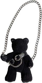 VALICLUD - Borsa a tracolla con tracolla in tessuto, a forma di orsacchiotto, stile gotico, per donne e ragazze, colore: nero