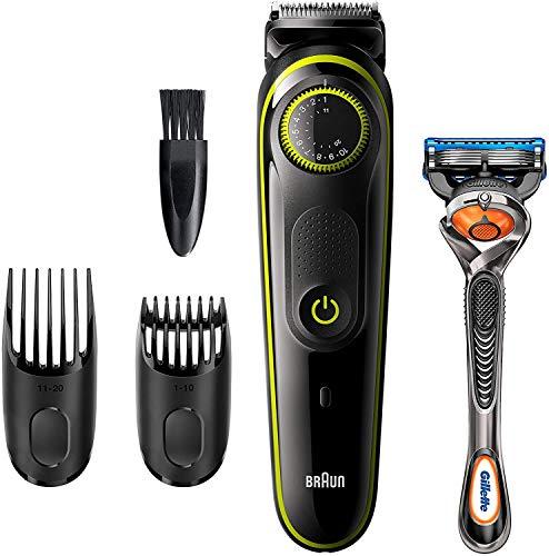 Braun Recortadora de Barba BT3241, Máquina Cortar Pelo, Recortadora de Barba y Cortapelos, para Hombre, Cuchillas Afiladas de Larga Duración, Eléctrico, Color Negro/Verde