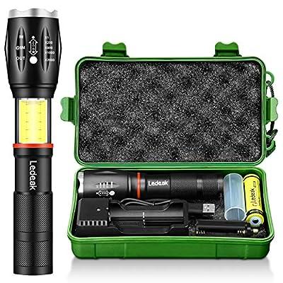 Ledeak Tactical COB Flashlight 6 Modes