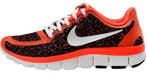Nike Free 5.0 V4 Laufschuhe Sneaker schwarz/infrared/weiß, Schuhgröße:EUR 36