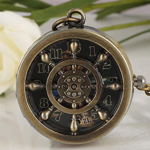XIAOHNNL Reloj De Bolsillo para Hombres Collar Colgante De Navegación De Bronce Relojes Accesorios Regalo para Novio Envío Directo