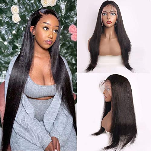 Maxine Lace Front Wig Human Hair Pre Plucked 150% Plus Density Human Hair Wigs Brazilian Straight Wave Full Lace Frontal With Baby Hair Bleached Knots