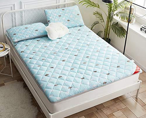 LYLJ matras, eenvoudig, dik, ademend, opvouwbaar, Japanse futon-matras, antislip, zacht, voor slaapzaal, studenten, slaapkamer, yoga enz.