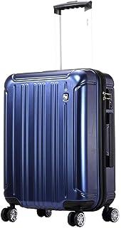 GLJJQMY Travel Case Universal Wheel Suitcase Student Password Box Portable Suitcase PC Material Box Trolley case (Color : Blue, Size : 38x24x51cm)