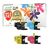 Shop At 247 Compatible Ink Cartridge Replacement for Brother LC75 XL (1 Black, 1 Cyan, 1 Yellow, 1 Magenta, 4-Pack)