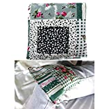 Heating Pads Microwave, Heat Pack Wrap Hot Cold Compress, Natural Therapeutic Pain Relief Relaxation Chronic Migraine Heat Therapy for Neck, Shoulder 【Flaxseed & Wheat & Lavender】(6×6.5inch, Flower)