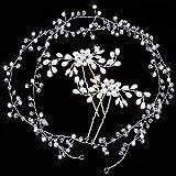 Diadema para novia, 3 unidades, de cristal, con perlas plateadas, estilo vintage, para mujeres y niñas en bodas, fiestas o eventos casuales, accesorios para el pelo de fiesta de bodas