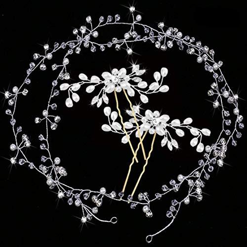 Bijoux Cheveux Perles mariage de cristaux accessoires pour...