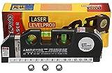 Universal BUYERL 03 Level Laser New Plastic Horizon Vertical Measure Tape Aligner Bubbles Ruler Multifunction Leveler Tool (Black)03