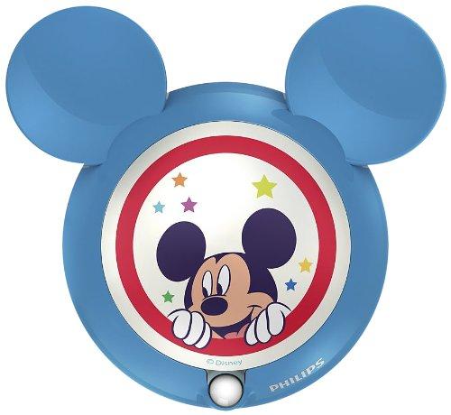 Philips Disney Mickey - Luz nocturna con sensor LED, color azul