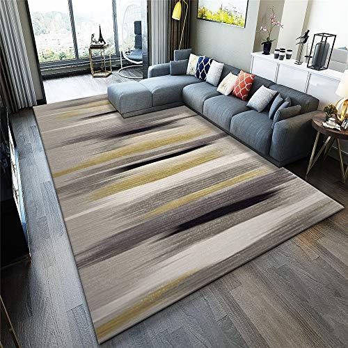 MMHJS European-Style Simple Geometric Carpet Living Room Bedroom Waterproof Non-Slip Floor Mat Soft Full-Cover Hotel Banquet Party Carpet