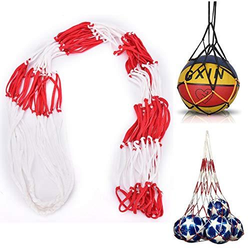 Bolsa de Red para Balones Bolsa de Malla para Balón de Fútbol Pelota de Deportes de Bolsillo de Malla de Red Bolsa de Almacenamiento con Red de Bolas Baloncesto Bolsa Transporte Bolsa de Red(2 Piezas)