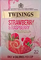Twinings Strawberry & Raspberry Teabags - 4 x 20