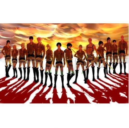 Attack on Titan Cosplay Anime Shingeki no Kyojin Eren Jaeger Shoes Knee Women Boots US