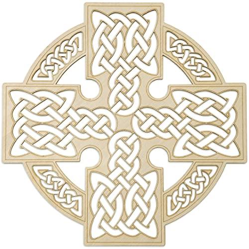 Fourth Level 12' Celtic Cross,Irish Home Blessing Decor, Spiritual Navigation, Wall Sculpture,Trinity Knot,Wall Hanging Decor