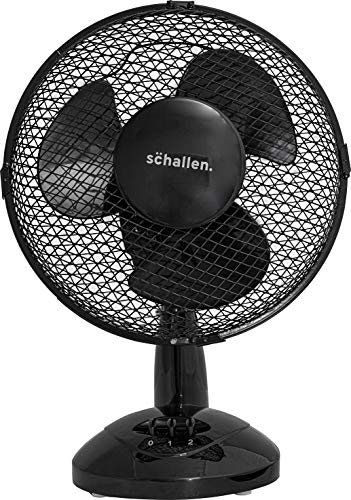 """Schallen Small 9"""" Portable Desk Table Oscillating Cooling Fan with 2 Speed Setting & Quiet Operation"""