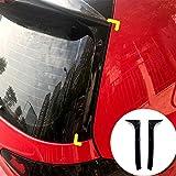 HOTRIMWORLD Black Rear Window Spoiler Side Wing Cover Trim 2pcs for Volkswagen VW Golf 6 MK6 GTI R GTD 2008-2013