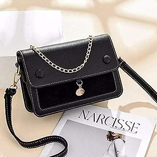 WTYD Single Shoulder Bag Leisure Fashion PU Slant Shoulder Bag Handbag(Army Green) (Color : Black)