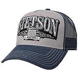 Stetson Gorra Trucker Trucking Hombre - Camionero de Beisbol Malla Snapback, con Visera, Forro, Forro Verano/Invierno - Talla única Azul
