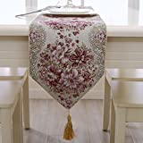 lussuoso piantare fiori Watkins ricamo palazzo stile Runner tessuti Bronzing continentale lussuoso tovaglie classico selvaggio tavolo da tè decorazione decorazione domestica porpora