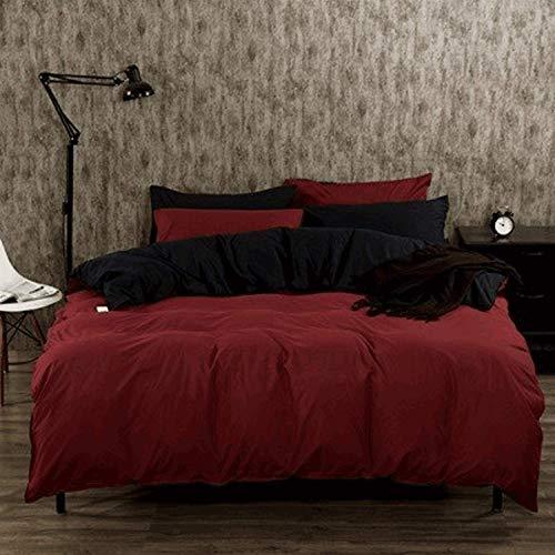Home Accessories Home Textiles Set Vierteiliger Bettbezug aus Baumwolle und Bettw auml;scheset Vierteiliger Bettw auml;schesatz aus Baumwolle Vierteiliger Bettbezug aus Bettw auml;sche Bettw auml;s