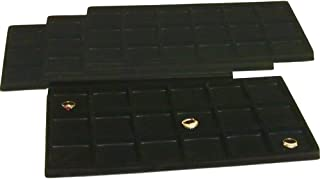 FindingKing 4 Black 18 Slot Coin Jewelry Showcase Display Tray Inserts