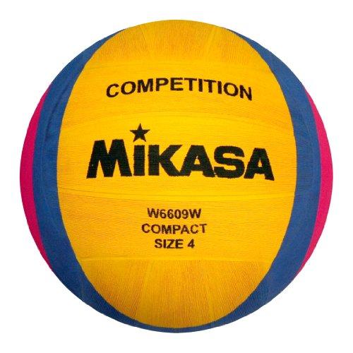 MIKASA, Pallone da pallanuoto W6609w, Giallo (Gelb/Blau/Pink)