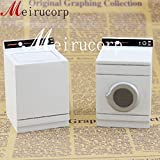 Meirucorp Dollhouse Fine 1:12 Scale Miniature White Washing Machine and Dryer
