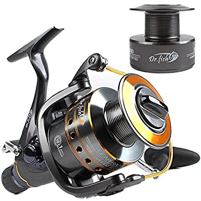 Dr.Fish Hercules-II Carp Sea Fishing Spinning Reel Baitfeeder 2 Spools 10+1 Stainless Ball Bearings 5.1:1 3000-6000 by Dr.Fish