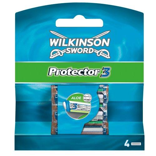 Wilkinson Sword Protector 3 Rasierklingen für Herren, 4 Klingen Rasierer, 4 St
