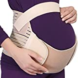 NeoTech Care Pregnancy Support Maternity Belt, Waist/Back/Abdomen Band, Belly Brace, Beige, Size M