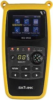 ICQUANZX WS-6933 DVB-S2 FTA C&KU Band Digital Satellite Meter Finder with Compass