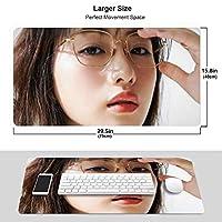 石原さとみ マウスパッド 光学マウス対応 パソコン 周辺機器 超大型 防水 洗える 滑り止め 高級感 耐久性が良い 40*75cm