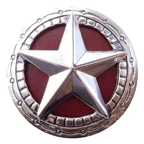 コンチョ シルバー 色 直径30mm 星 スター 赤 red zw-starconcho1-red ZIVAGO