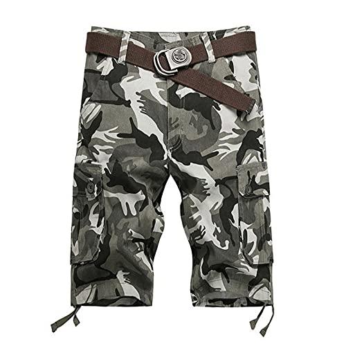 Hombre Pantalones Cortos de Verano Shorts Pantalón para Hombre Pantalones Casuales de Playa