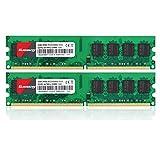 4GB Kit (2GBX2) DDR2 667 DIMM RAM, Kuesuny PC2-5300/PC2-5300U CL5 240-Pin Non-ECC Unbuffered Desktop Memory Modules