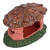CUTULAMO Refugio De Reptiles De Resina, Decoraciones Vívidas para Refugios De Acuarios, Decoración De Acuarios, Cueva No Tóxica para Peceras, Acuarios