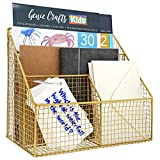 Gold Mail Organizer with 4 Compartments (11.5 x 7 in.)...